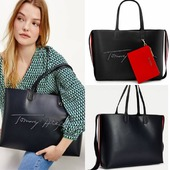 Iconic Signature tote by Tommy Hilfiger. . . . #tommyhilfiger #tommyhilfigerbags #totebag #shopperbag #shoponline #pelinaaccessories  📍Call us 👉 212 1058537 📍Shop online 👉 www.pelina.gr