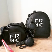 Frnc black and White Crossbody bag and backpack🖤 New arrival #frnc #frncbags #blackandwhite #backpack #crossbodybag #instafashion #fashionista #pelinaaccessories